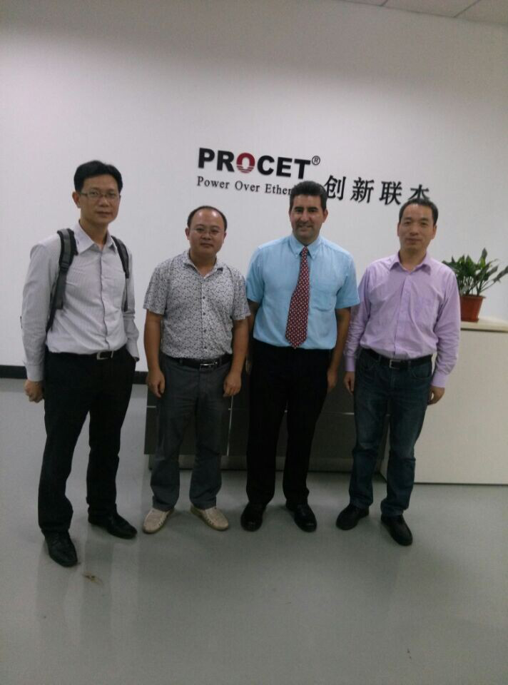 British customers come to visit our factory
